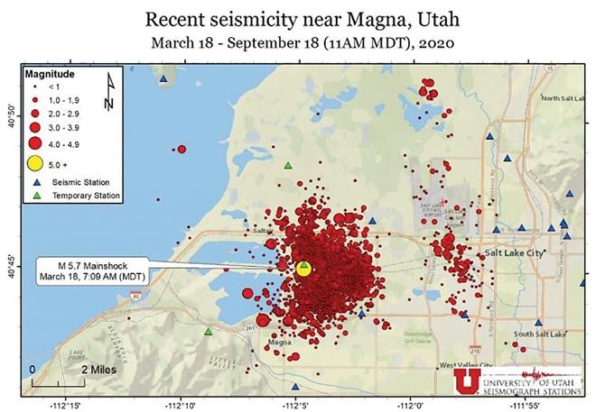 recent seismicity